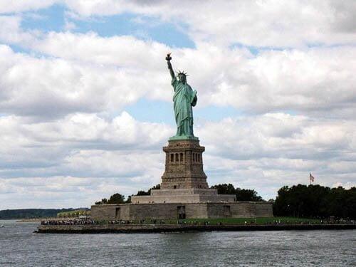 Liberty Island, onde fica a Estátua da Liberdade, marco mais importante de Nova York.
