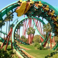Montanha-russa no Busch Gardens