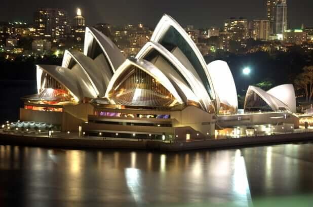 Sydney Opera House a noite