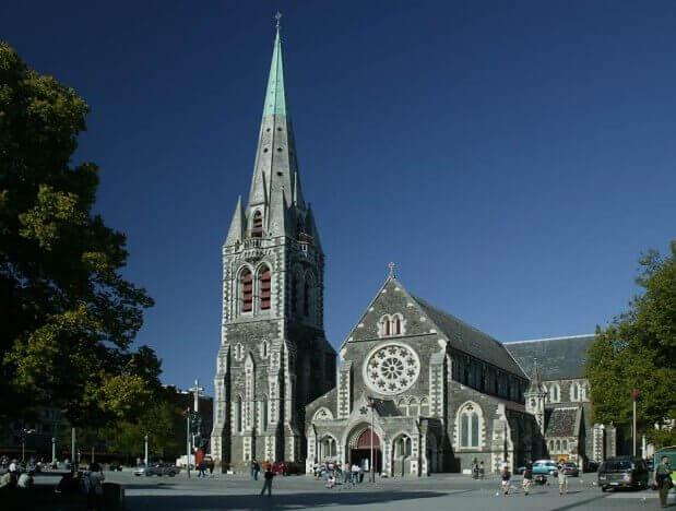 Igreja em Christchurch, Nova Zelândia
