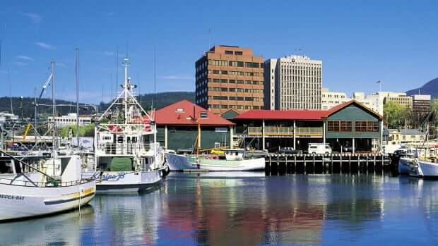 Marina em Hobart, Austrália