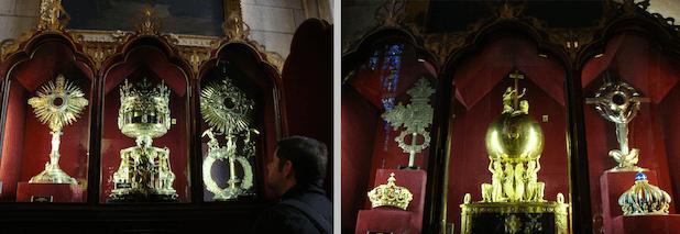 Alguns dos tesouros guardados na Catedral de Notre-Dame