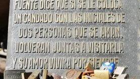 Fuente de Los Candados em Montevideu, capital e cidade turística do Uruguai