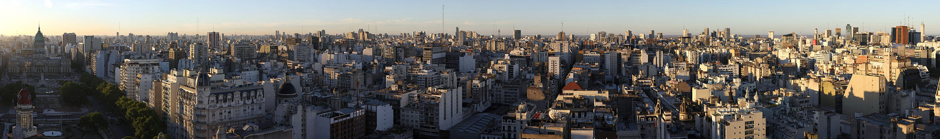 Foto panorâmica de Buenos Aires