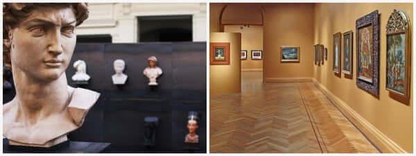 interior do museu de bellas artes - Santiago do Chile