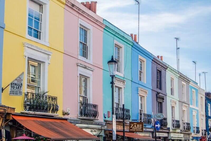 Portobello Road em Notting Hill