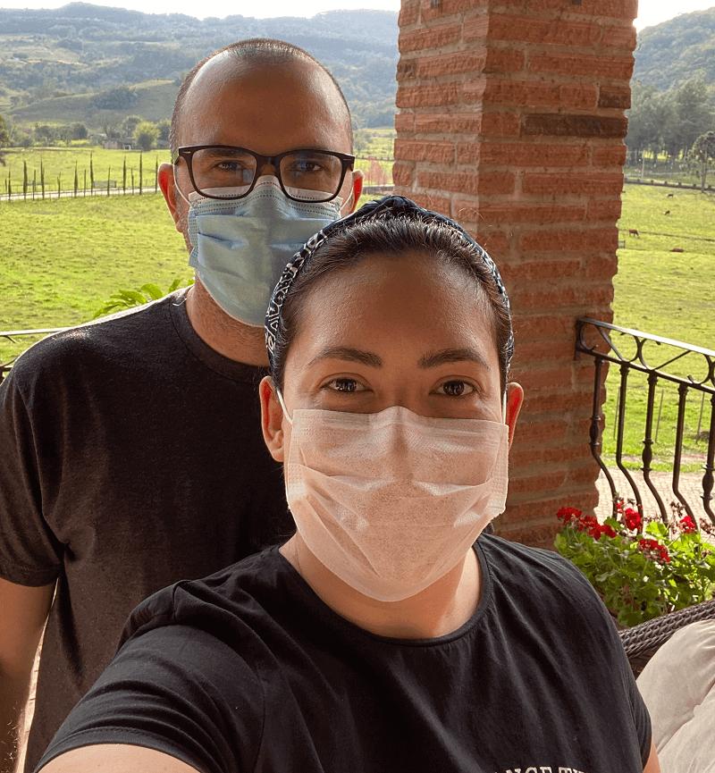 Durante a pandemia, a máscara é obrigatória no Estribo Hotel Estância