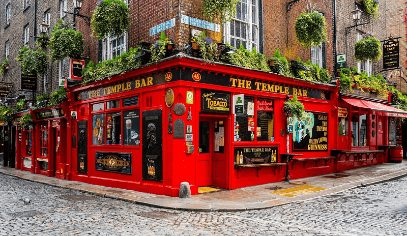 The Temple Bar, em Dublin