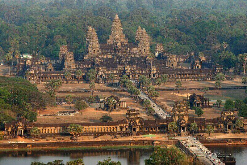 Vista de cima de Angkor Wat