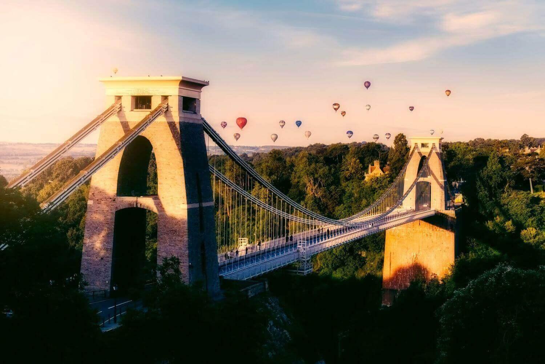Ponte Suspensa de Clifton em Bristol no interior da Inglaterra