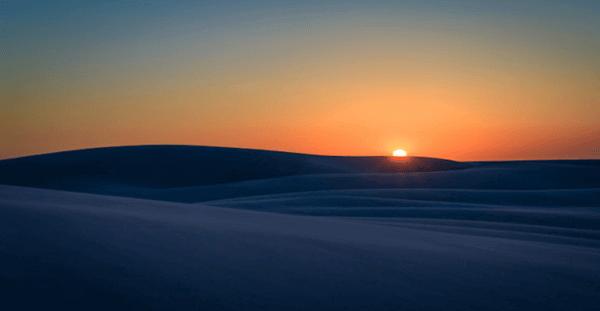 Lençol Maranhense Pôr do Sol
