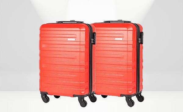 Conjunto de 2 malas de bordo Lugano vermelhas, da Travelux
