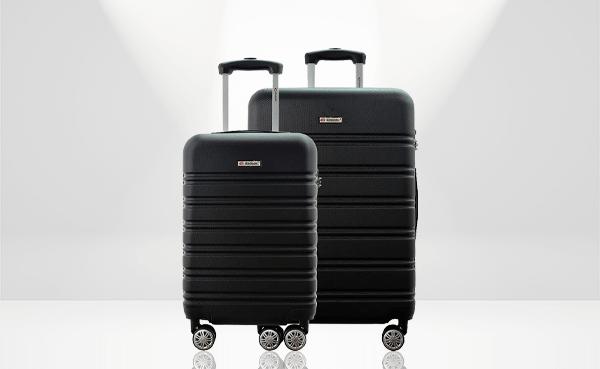 Conjunto de 2 malas de viagem A3PM pretas, da Gladiador